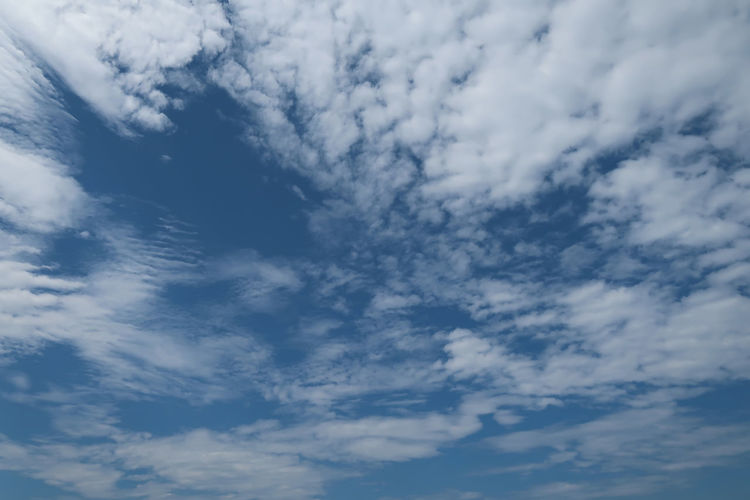 Clouds in the sky Atmosphere Heaven Weather Abstract Air Background Backgrounds Blue Climate Cloud - Sky Cloudscape Full Frame Landscape Low Angle View Meteorology Nature Outdoors Ozone Scenics - Nature Sky Tranquil Scene Tranquility Wallpaper Weather Forecast White Color
