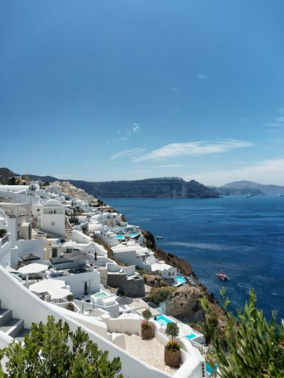 Agean Destination Greece Oia Oia Santorini Santorini Tourism Travel View