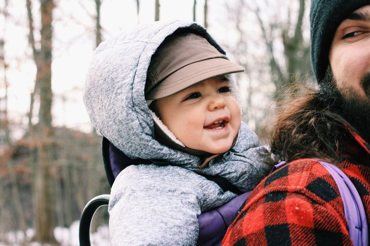 Baby Casual Clothing Check This Out Child Childhood Cute EyeEm EyeEm Best Shots Father & Son Happiness Happy Head And Shoulders Innocence Life Lifestyles Natural Light Nature Outdoors Person Perspective Portrait Real People Trees