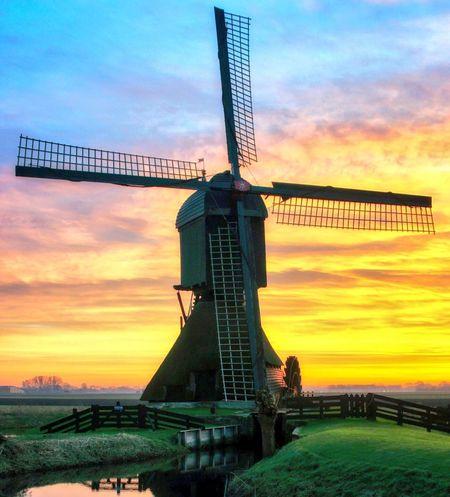 Windmill Dutch Sunrise