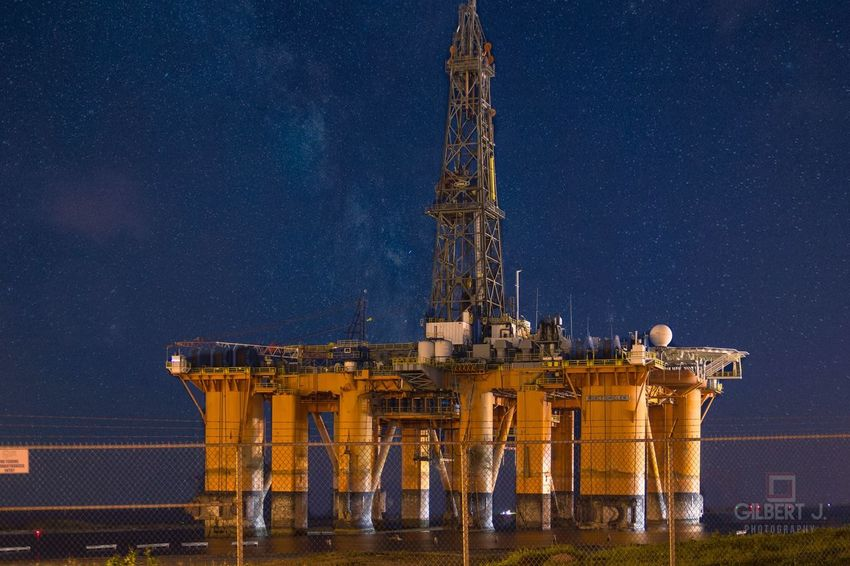 Learn & Shoot: After Dark Composite Oil Rig Nightphotography Gilbert J. Photography Texas Gulf Of Mexico South Padre Island