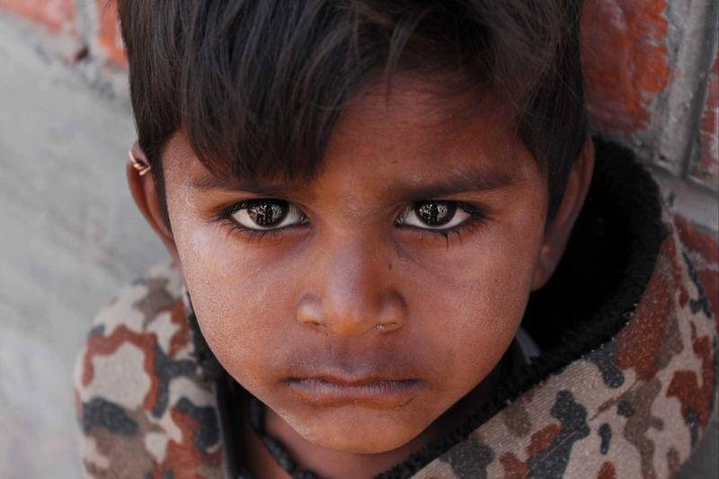 A boy from rural areas in vadodara, gujarat, india.