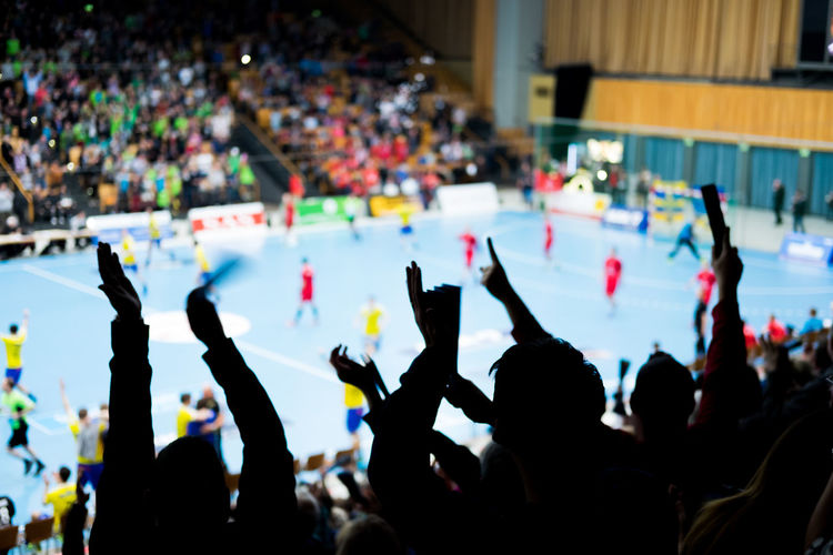 Victory - my brother in law made it! // Handball Sport Crowd Cheering ♥ Glory Mecklenburger Stiere Goal Game Team