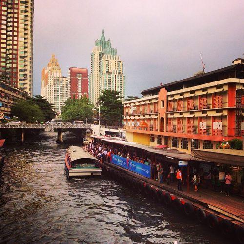 Boats Bangkok Canal Architecture