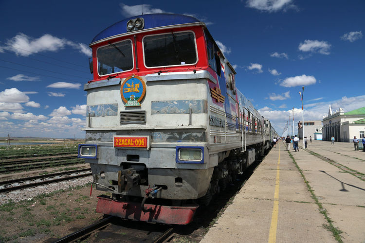 Mongolia Choir  Cloud - Sky Mode Of Transportation Outdoors Overland Rail Transportation Railroad Engine Railroad Station Platform Train Transmongolian Railway Transportation Transsib Transsiberian Railway Travel