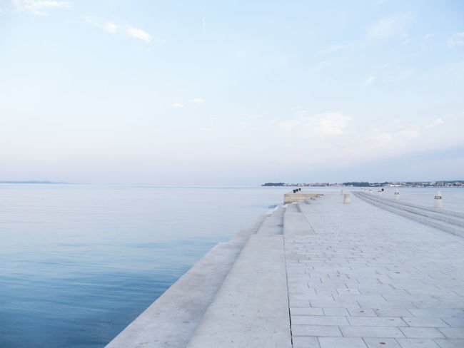 Copy Space Early Morning Horizon Over Water Horizontal Scenics Sea Sea And Sky Sea Organ Solitude Tourist Attraction  Tourist Destination Tranquil Scene Tranquility Travel Destinations Water Waterfront