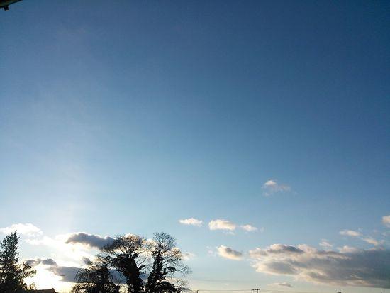 今朝の空です(^^*)