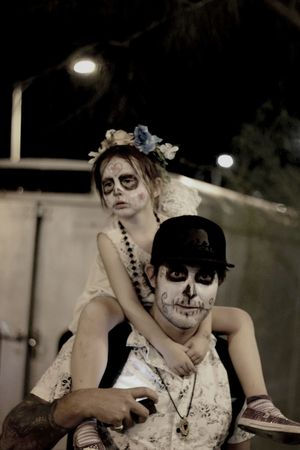 "17th photo from All Souls Procession "" Piggy back pops"" United States Tucson Arizona  City Of Tucson Dia De Los Muertos"