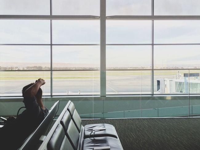 Waiting While Inbetween Airport Open Edit