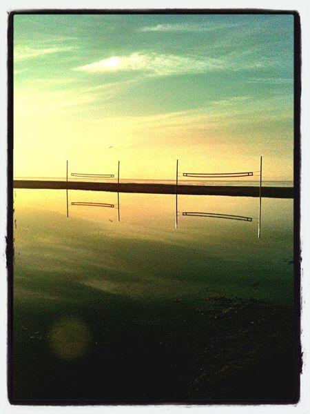 #sunrise #reflection Castelldefels