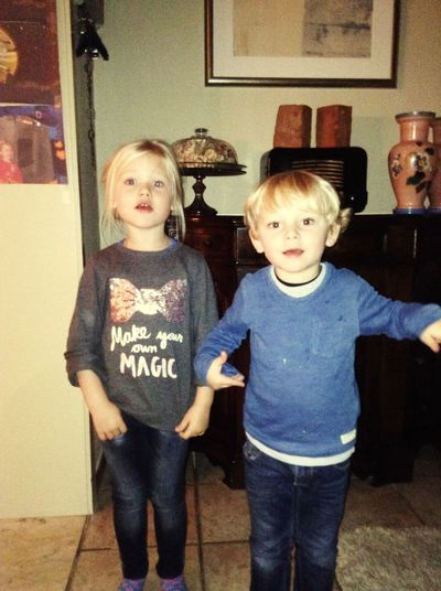 My girl & boy..Bonny & Clyde...