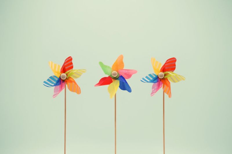 More pinwheels Multi Colored No People Copy Space Art And Craft Creativity Nature Pinwheel Toy Studio Shot Toy Craft