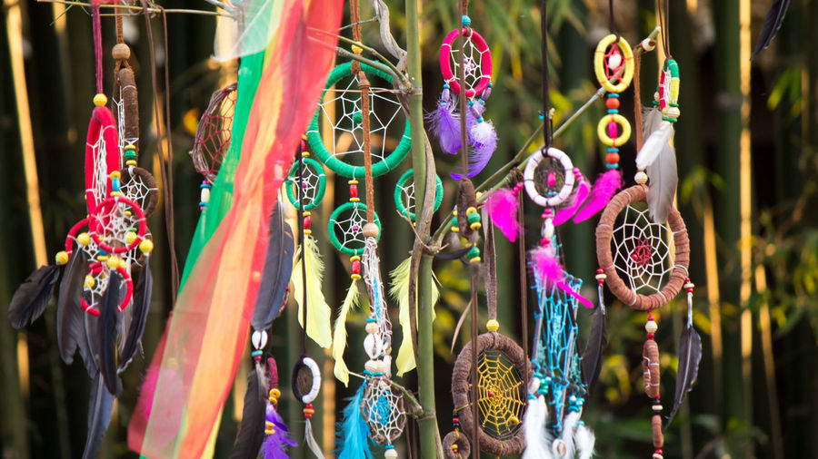 Dreamcatchers Hanging Outdoors