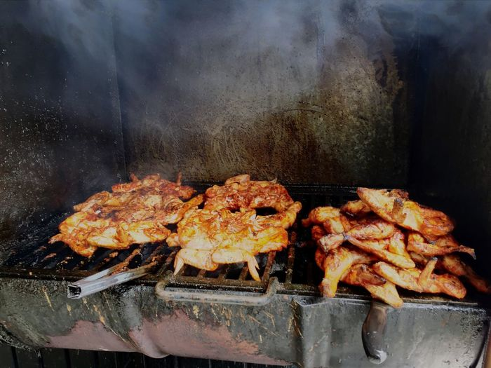 Chicken On Barbeque Grill