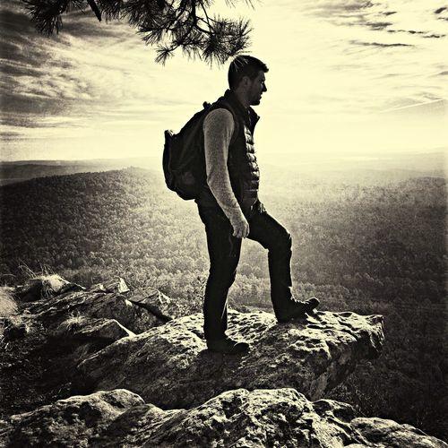 Top of Pinnacle mountain east summit