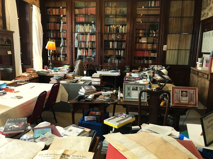 The Den, a man cave, a work in progress, too many social interests. Man Cave The Den Book Publication Shelf Bookshelf Large Group Of Objects Indoors  EyeEmNewHere Library No People Abundance Table Business Messy Education Architecture Literature Day Arrangement Choice Sunlight