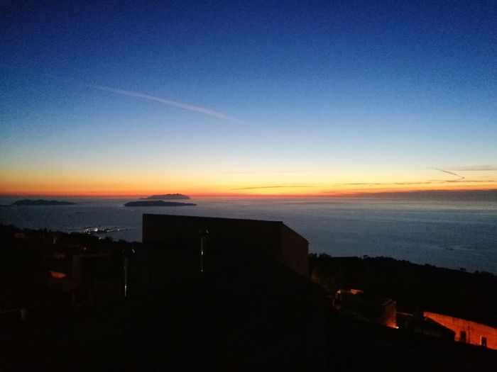 Vista mare Erice Italia Sunset Sea Sky No People Horizon Over Water Outdoors Clear Sky Day Beauty In Nature City Lovd Sicilia