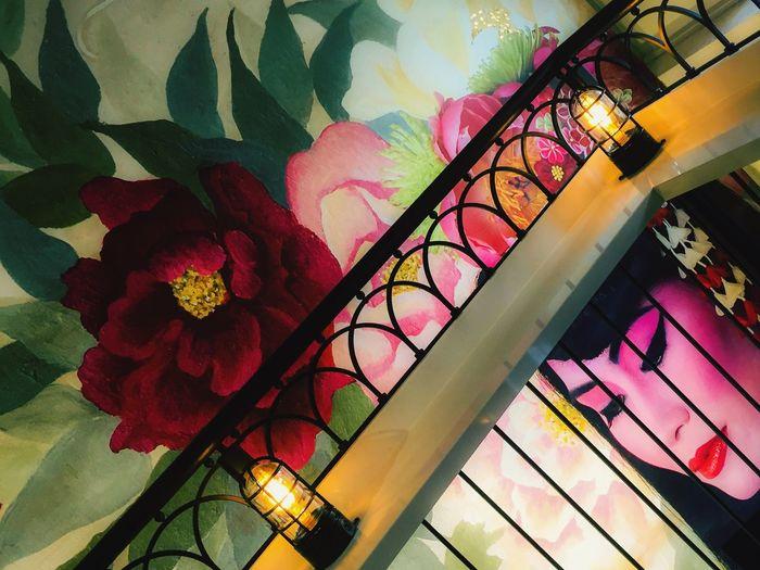 Photo taken at a restaurant in Adelaide Mural Geishagirl Interior Design Interior Decorating Colours Colors Portrait Of A Woman Portrait Restaurant Decor Vietnam Vietnamese Robyn Haworth Adelaide, South Australia