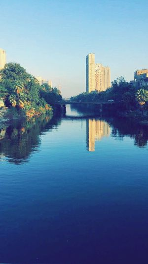 Cairo Cairotower Nile River Reflection Shoot Freehand First Eyeem Photo