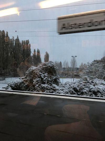 Snow in Hamburg