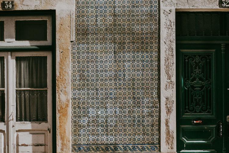 Built Structure Building Exterior Tiles Portugal Lisbon House