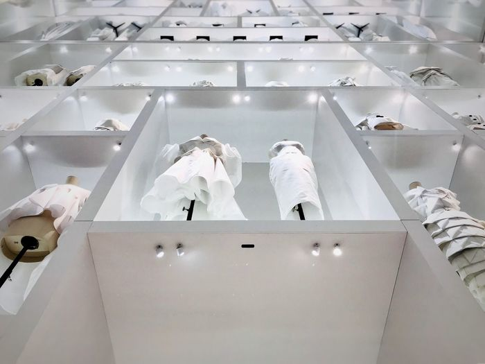 White Color Indoors  Low Angle View Architecture Museum Dior Fashion