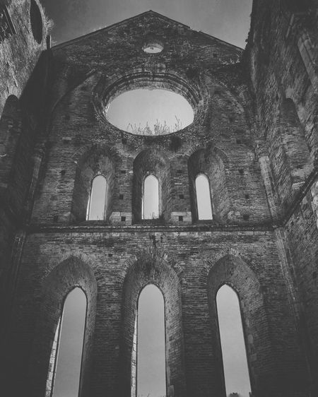 And here we got all the ruins - San Galgano abbey | #ShotOniPhone6S #ProCamera | Snapseed Youmobile Wearegrryo ShotoniPhone6s Medieval Shootermag Blackandwhite