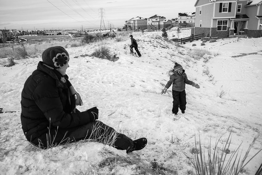 Aurora, CO. 2017. Fujifilm X70 FujifilmX_US Outdoors Winter Playing Kids Being Kids