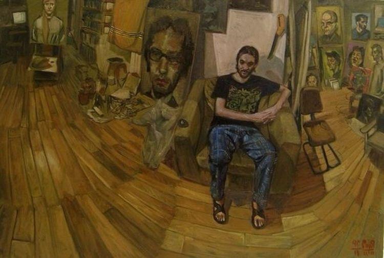 Painting Contemporary Art n Iranian Art Grandmaster Oil On Canvas k Salman Khoshroo Farsam Sangini ArtWork