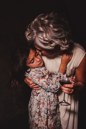 Hug Family Mother Mother & Daughter Togetherness Two People Love Holding Happiness Real People Drinking Wineglass Wine Celebration Childhood Press For Progress EyeEmNewHere Visual Creativity The Portraitist - 2018 EyeEm Awards HUAWEI Photo Award: After Dark 50 Ways Of Seeing: Gratitude International Women's Day 2019 Moms & Dads