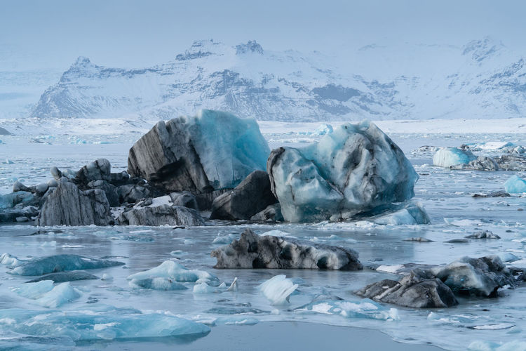 Jökulsarlon, Iceland, Jökulsárlón Iceland Europe Travel Travel Destinations Tourism Tourist Attraction  Nature Landscape Glacier Lagoon Lake Water Ice Cold Temperature Winter Iceberg Global Warming Climate Change Ecosystem  Environment Scenics Scenics - Nature Scenery White No People Panorama