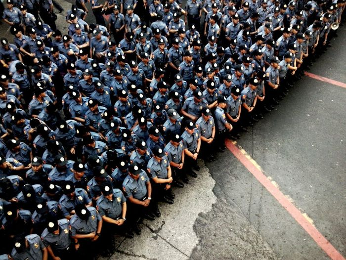 Crowd of policemen