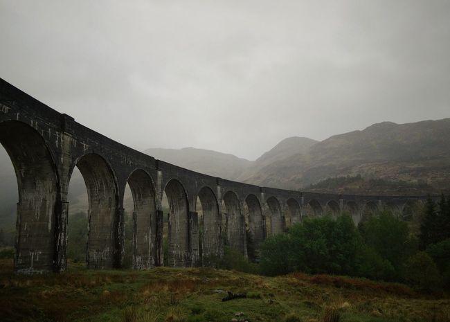 Aquaduct Arch Bridge Architecture Bridge - Man Made Structure Built Structure Connection Hogwarts Express Landscape Mountain Mountain Range Scotland Scottish Highlands Traveling