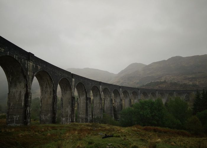 Aquaduct Arch Bridge Architecture Bridge - Man Made Structure Built Structure Connection Hogwarts Express Landscape Mountain Mountain Range Scotland Scottish Highlands Traveling