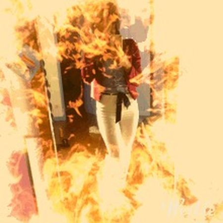 Motion Digital Composite Burning Flame One Person Adult Fire Fire - Natural Phenomenon Women Orange Color