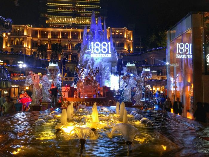 1881 Heritage. Christmas Decorations Christmas Lights Water Fountain HongKong Exploring New Ground Colour Of Life