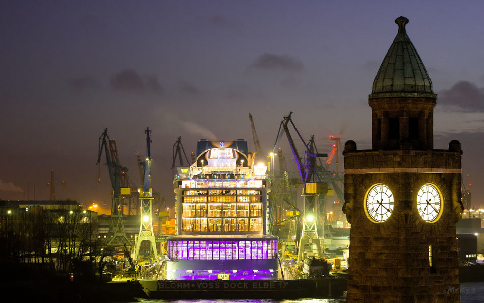 Architecture Building Exterior Built Structure Church City Cloud - Sky Dusk Hamburg Harbour History Illuminated Night No People Outdoors Ovationoftheseas Place Of Worship Religion RoyalCaribbean Sky Spirituality Travel Destinations Water