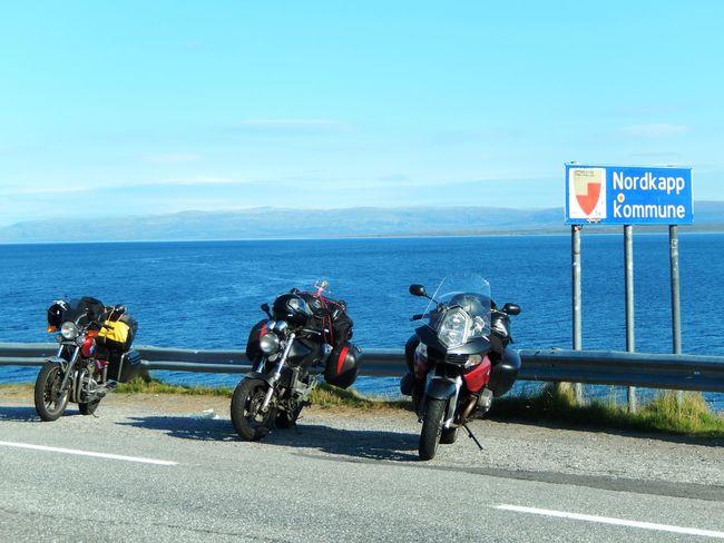 Bicycle Blue Mode Of Transport Nordkap  Nordkapp North Cape Norway Norwegen Road Sea Sky Travel Travel Travel Destinations Traveling Water