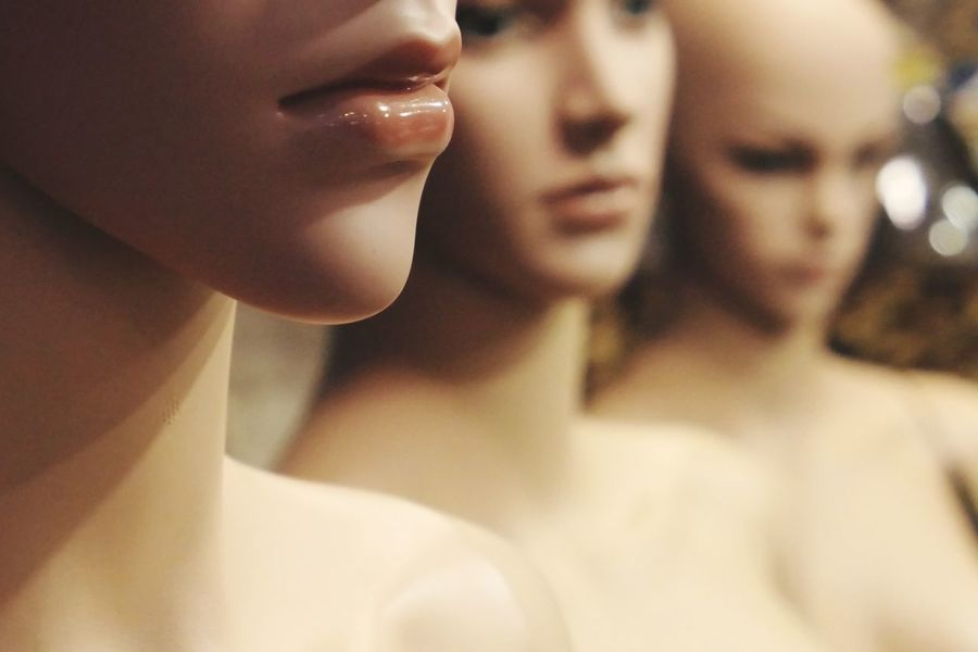 Store Window Not Real People Mannequins Women Beauty Beautiful Woman Close-up Human Body Part Body Part