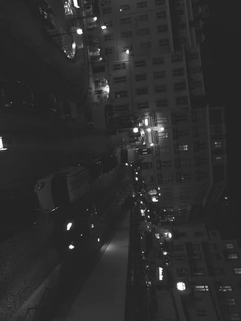 Night Illuminated City Street City Life Nightlife Car