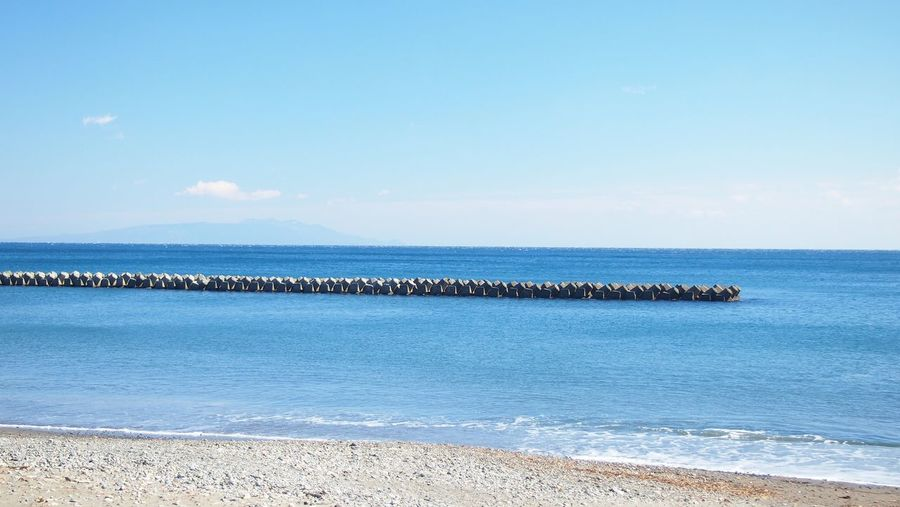 Pure Sea Seaside Blue Sky Hello World Landscape_photography From My Point Of View 河津 Blue Wave