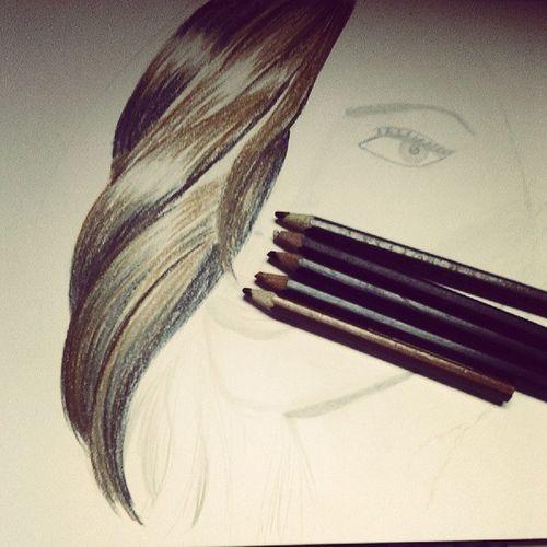Hair Draw Pencil_colour *rada gak pede sih :(*