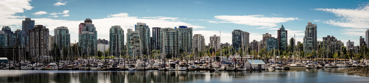 Vancouver Architecture Building Exterior Built Structure City Cityscape Cloud - Sky Day Modern Nature Nautical Vessel No People Outdoors Reflection River Scenics Sky Skyscraper Tourism Travel Travel Destinations Tree Urban Skyline Vacations Water