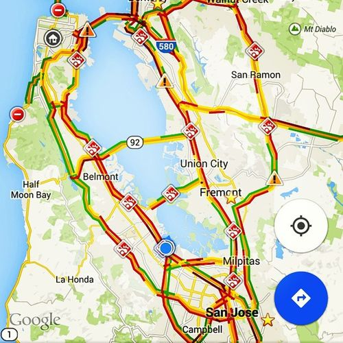 ATTN Californiadrivers every freeway has an accident ...or... Just another evening commute home from work. Inspired by @sethofdeathelson's Facebook post last night from LA... TrafficWars Norcal vs SoCal z0mgItRained theresSoManyOfUs ...where is googleTeleport?