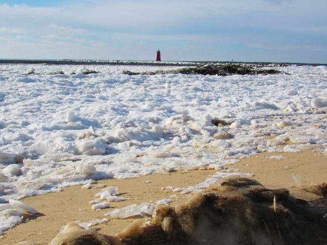 Manistique Lighthouse Taking Photos Enjoying Life On The Beach Beauty