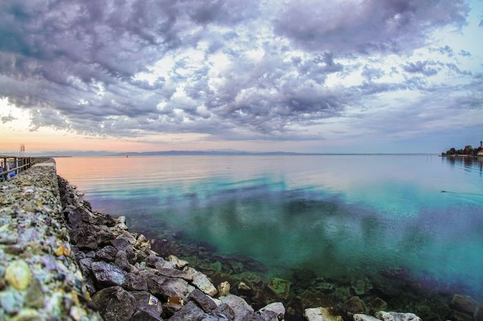 Water Sea Sunset Beach Sky Horizon Over Water Landscape Cloud - Sky Seascape Dramatic Sky Rocky Coastline Storm Cloud
