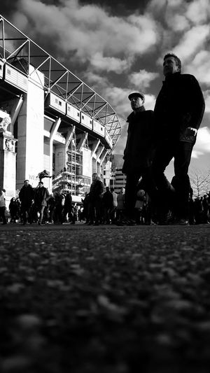 Outdoors Only Men People Men Adults Only City Silhouette Twickenham Rugby Black & White Urban Exploration Rugby Union Sports Event  Blackandwhite Photography Black And White Collection  Urbanphotography Beauty In Ordinary Things EyeEm Best Shots