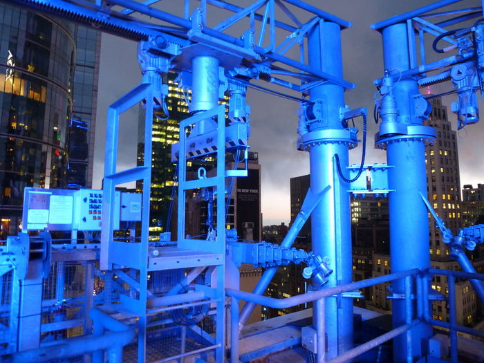 Architecture Blue Built Structure Illuminated Industry Landscape_Collection Night Night Colors Night Photography Pipe - Tube Urban Landscape Art Is Everywhere