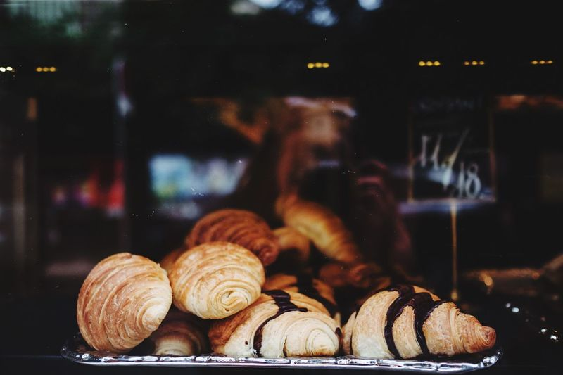 EyeEm Selects Focus On Foreground Food Bakery Window View Croissant Sweet Food Food And Drink Baked Close-up Ready-to-eat No People Patisserie Paris French Food