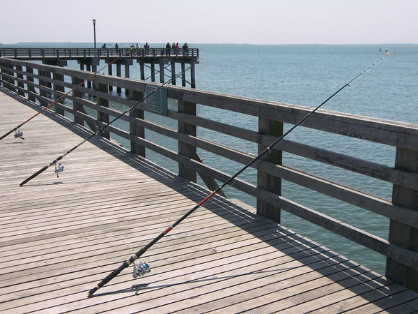 Boardwalk Coney Island Fishing New York New York City Pier